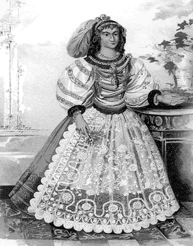 17th century fashion for Hungarian noblewomen